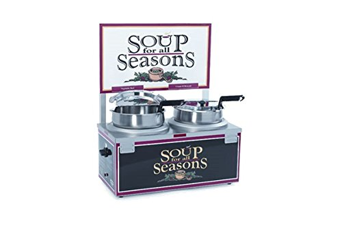 Nemco Food Equipment Twin Well Single Thermostat No Header Soup Merchandiser, 25.125 x 14.625 x 11 inch -- 1 each. by Nemco Food Equipment