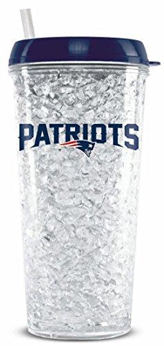 New England Patriots Crystal Freezer Travel Tumbler