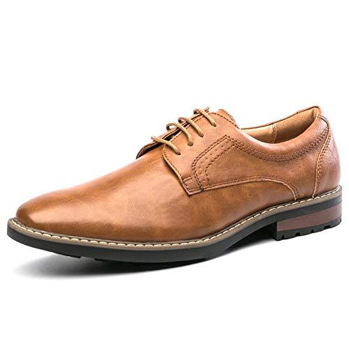 GOLAIMAN Mens Oxford Dress Shoes Leather Lace up Formal Shoes Derbys Shoes