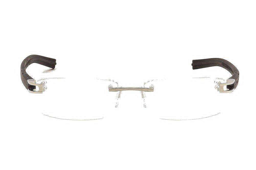 Black//Black Tag Heuer 7643-011 Fold Rimless Eyeglasses