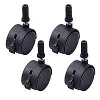 Garneck 4pcs Heavy Duty Caster Wheels for Bed Frame,360 Degree, Swivel Caster Wheels Bearing Office Chair Wheels (2 Inch Black)
