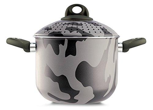 Pensofal 07PEN8319 Army Bioceramix Non-Stick Family PastaSi Pasta Cooker with Lid, 5-Quart