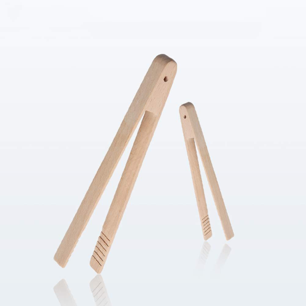BESTONZON Tostadora de haya cocina pinzas de agarre largo f/ácil tostadora de servir pinzas para cocinar tostadas pan barbacoa asar a la parrilla fre/ír 32CM