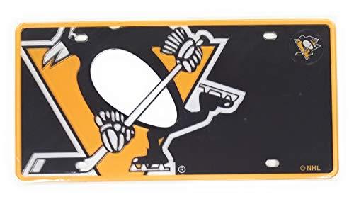 Pittsburgh Penguins MEGA Logo Design Premium Laser Cut Tag Acrylic Inlaid License Plate Hockey ()