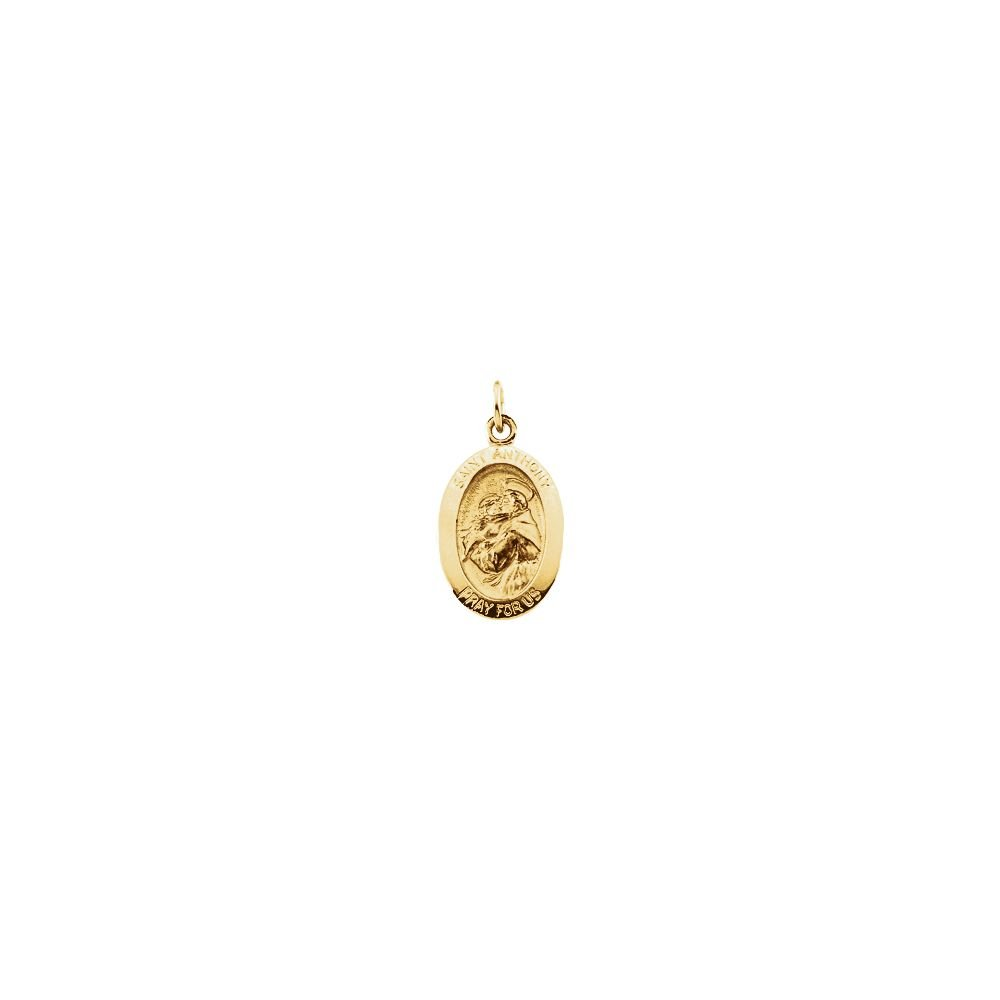 FB Jewels 14K Yellow Gold 15x11mm St. Anthony of Padua Medal