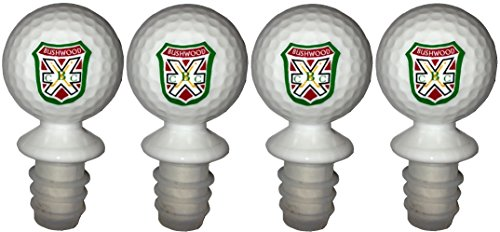 (Caddyshack Inspired Bushwood Country Club BCC Golf Ball Wine Bottle Stopper Four-Pack (FOUR Golf Ball Wine Bottle Stoppers))