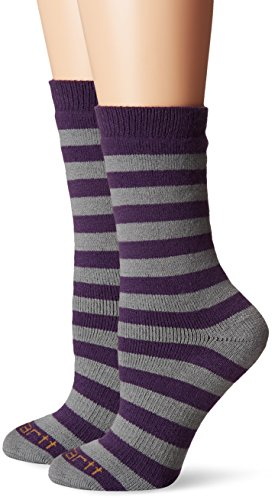 Carhartt Women's 2 Pack Arctic Thermal Crew Socks, Heather Grey, Shoe Size: - Crew Lightweight Thermal