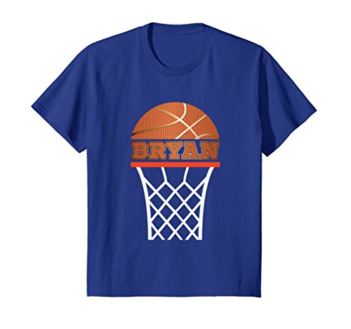 Kids Basketball Apparels | Boy Custom Name Bryan, Youth T Shirt 8 Royal (Custom Youth Anvil)