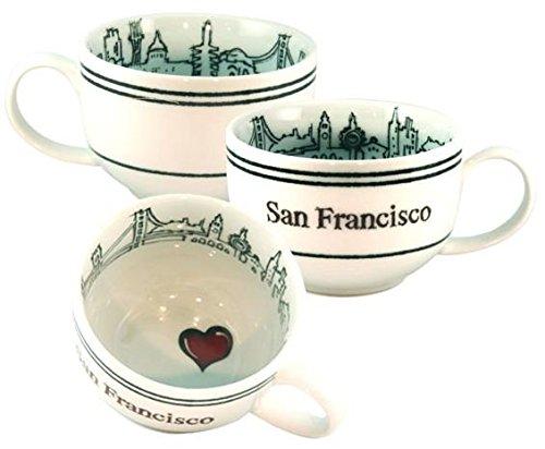 (I Left My Heart in San Francisco 24 oz. Cappuccino/Soup Mug)