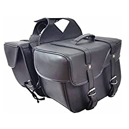 Zip Off and Throw Over Slanted Motorcycle Saddlebags - SD206