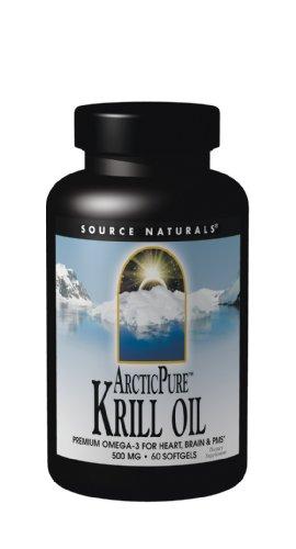Source Naturals ArcticPure Huile de Krill 500mg, 60 gélules