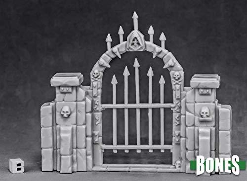 Reaper Miniatures Graveyard Fence Gate #77527 Bones Unpainted