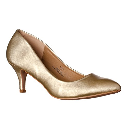 Toe Pumps Pointed Classic Pu Womens Katy Riverberry Gold qO6pwtaaX