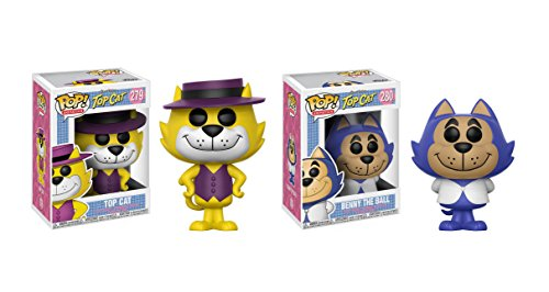 Funko POP Animation: Hanna Barbera Top Cat and Benny the Ball Toy Action Figure - 2 POP (Pop Bundle)