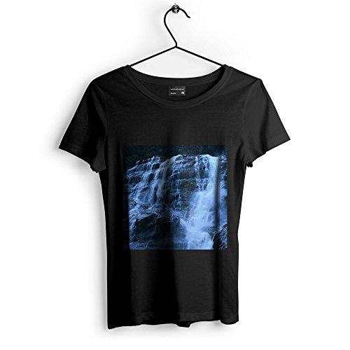 Westlake Art Waterfall Flow - Unisex Tshirt - Picture Photography Artwork Shirt - Black Adult Medium (Flow Chute)