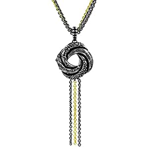 Two Tone Love Knot Necklace