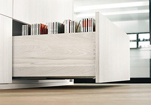 MOVENTO mit BLUMOTION, Vollauszug fü r Holzschubkasten, 40 kg, NL=380mm, mit Kupplungen, 760H3800B