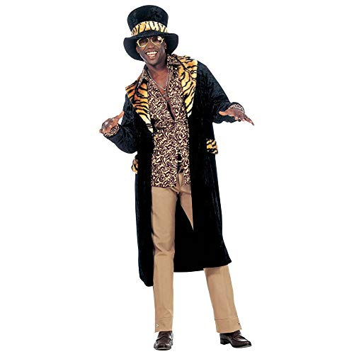 Mens Big Daddy Velvet Costume Medium Uk 40/42