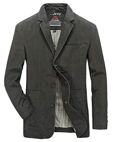 Vintage Giacca Tasche In Strati Schwarz Casual Leggera 3 Capispalla Uomo Da Lavoro Uomo Cotone 2 Cappotto fz0fnqr