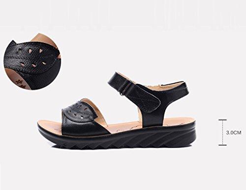 Zapatos Edad De C De Bottom ZCJB Mediana Shoes Soft Cuero De Mom Summer Mujer gFxnYt8