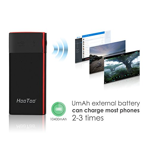 HooToo Wireless Travel Router, FileHub, 10400mAh External Battery, USB Port, High Performance Travel Charger - TripMate Titan 300Mbps (Not a Hotspot) by HooToo (Image #5)