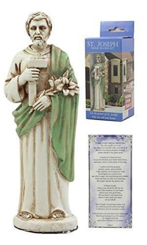 Ebros Saint Joseph Home Seller Kit With Prayer Card St Joseph Figurine Divinity Spiritual Symbol -