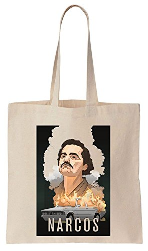 Pablo Escobar Burning Car Design Sacchetto di cotone tela di canapa