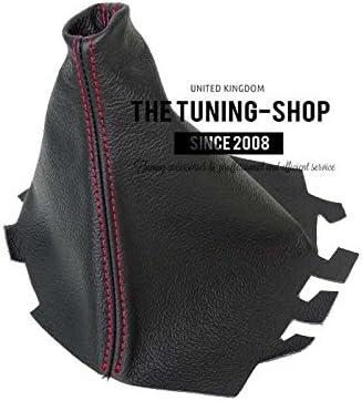 2008/Schaltsack schwarz Italienisches Leder Naht Rot F/ür Seat Ibiza Cordoba 2002