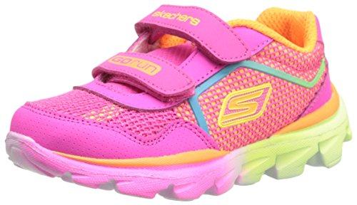 Skechers Kids 80685L Go Run Ride Athletic Running Shoe,Neon Pink/Multi,12 M US Little Kid