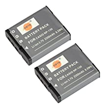 DSTE® 2x NP-130 Replacement Li-ion Battery for Casio Exilim EX-ZR700 EX-ZR800 EX-ZR850 EX-ZR1000 EX-ZR1200 EX-ZS1500 EX-10 EX-100 EX-H30 EX-ZR100 EX-ZR200 EX-ZR300 EX-ZR400 EX-ZR500 EX-ZR510