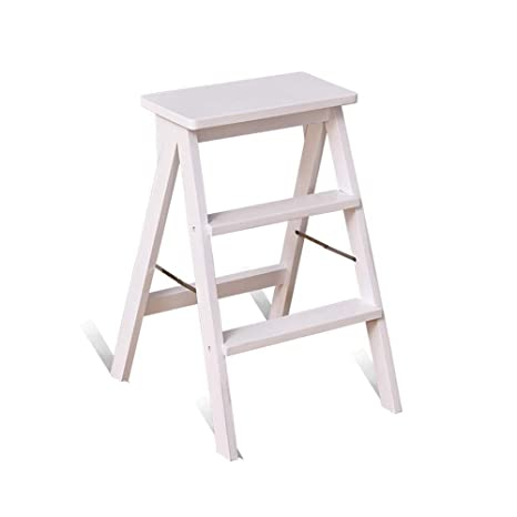 Prime Amazon Com Solid Wood Step Stool Home Kitchen Lift Stool Squirreltailoven Fun Painted Chair Ideas Images Squirreltailovenorg