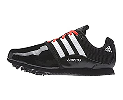 adidas Men's Jumpstar Allround Core Black, White and Solar Red Mesh Track  and Field Shoes