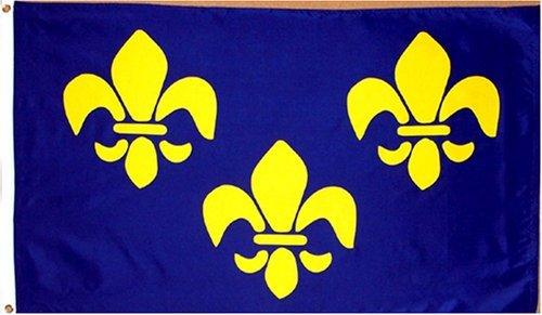 Fleur De Lis Blue Flag 3'x5' French Historical Banner