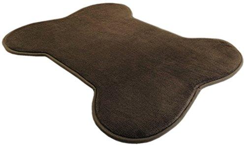 Brown Bone Shaped Fleece Comfort Soft Luxurious Memory