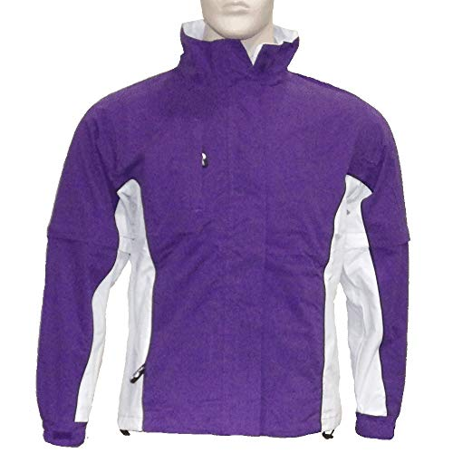 The Weather Company Ladies Microfiber Rain Jacket Purple/White M