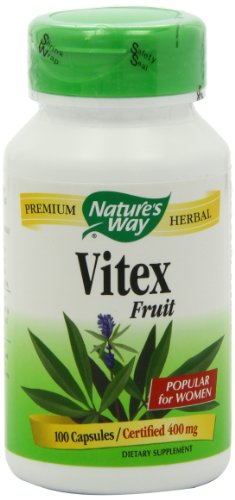 Nature's Way Vitex (Chaste Tree), 100 Capsules, 400 mg (Pack of 2)
