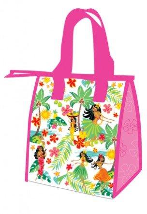 Hawaiian Island Hula Honeys Pink Small Insulated Reusable Lunch Bag