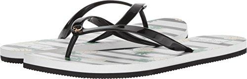 Kate Spade New York Women's Nassau Flat Sandal, Black, 6 M U