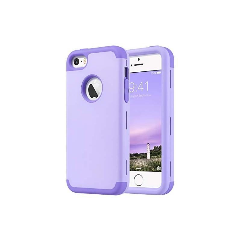 ULAK Case for iPhone SE/5S/5, Hybrid Sho