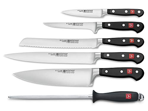 Wusthof WU9751 CLASSIC Six Piece Cook's Set, 6, Black ()