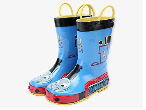 Kids Boys Thomas Printed Waterproof Easy-On Rubber Rain Boots (Toddler/Little Kid) (8M US Toddler)