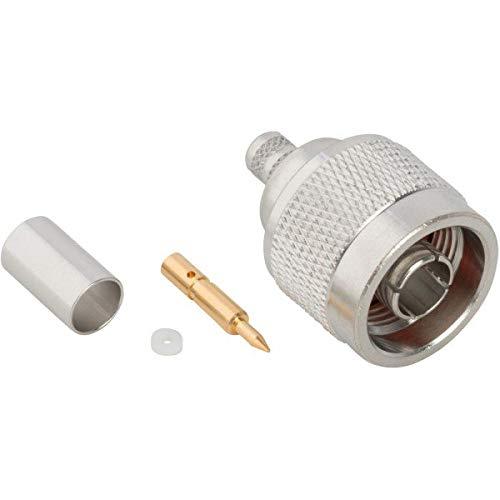 172135, RF Connector - N Type Straight Crimp Plug for RG-8X LMR-240 50 Ohms (5 Items)