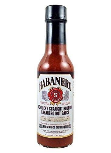 Kentucky Straight Bourbon Habanero Hot Sauce (Pack of 3)