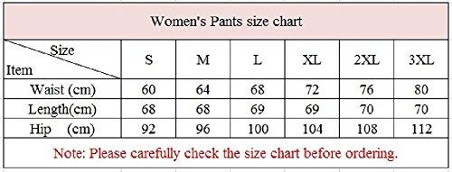 YiLianDa Mujer Pantalones De Cintura Elástica Con Cordón Tallas Grandes Casuales Capri Pantalones Negro