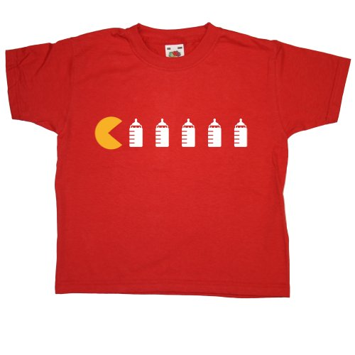 Price comparison product image Kids Baby Bottles T Shirt - Red - 2-3 years