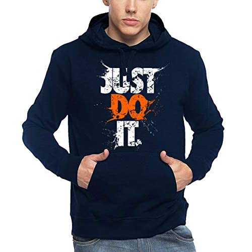 41kqaFvWdcL. SS500  - ADRO Men's Just Do It Typography Printed Cotton Hoodies