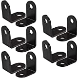 Black Corner Braces, 20Pcs L Corner Right Angle Bracket Joint Fastener, 26 x 26 mm Stainless Steel Hardware Braces by STARVAST