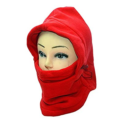 Ezyoutdoor Balaclava Full Face Outdoor Sports CS Mask Double Layer 6 in 1 Thermal Fleece Hat Hood Bicycle Motorcycle Ski Bike Riding Cover Neck Warmer