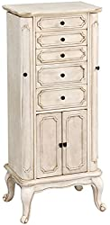 acme furniture 97202 lief jewelry armoire antique white amazoncom antique jewelry armoire