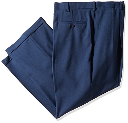 haggar-mens-big-and-tall-eclo-stria-gab-expandable-waist-pleat-front-dress-pant-blue-50wx29l